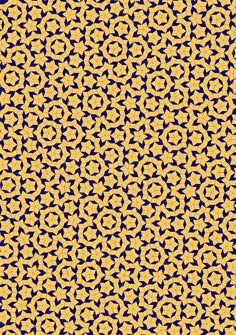 A little bit of Kaos: Penrose Tiles. http://en.wikipedia.org/wiki/Penrose_tiling  http://en.wikipedia.org/wiki/File:Penrose_Rhombi_BR.svg  http://en.wikipedia.org/wiki/Aperiodic_tiling