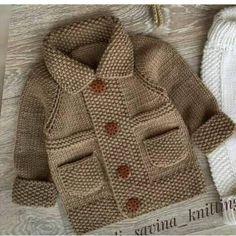 Baby Boy Knitting Patterns, Baby Cardigan Knitting Pattern, Knitted Baby Cardigan, Knit Baby Sweaters, Baby Patterns, Dress Patterns, Free Knitting, Baby Boy Sweater, Kids Knitting
