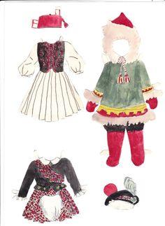 Helga paper doll (made up name) (2 of 4)   Maggans Nostalgiska klippdockor