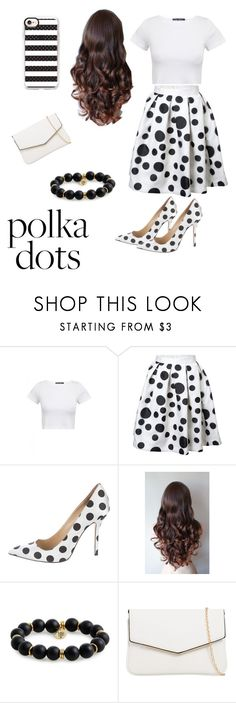 """Polka Dot Party!"" by londy-bassett on Polyvore featuring Oscar de la Renta, Bourbon and Boweties, KoKo Couture and Casetify"