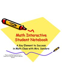 Math Interactive Student Notebook