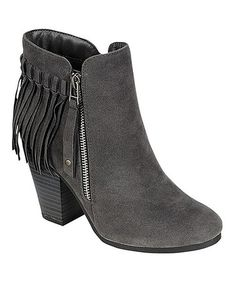 MEET YOUR BOOT MATCH!!!  LOVES 'EM!!!   Look what I found on #zulily! Gray Gail Fringe Boot #zulilyfinds
