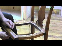 How To Re Cane A Chair Seat In Under 10 Mins - YouTube
