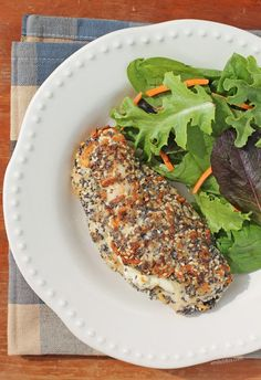 Cream Cheese Stuffed Everything Chicken - Emily Bites - This Cream Cheese Stuff. - Cream Cheese Stuffed Everything Chicken – Emily Bites – This Cream Cheese Stuffed Everything C - Ww Recipes, Chicken Recipes, Cooking Recipes, Healthy Recipes, Healthy Dinners, Weight Watcher Dinners, Weight Watchers Chicken, High Protein Recipes, Healthy Options