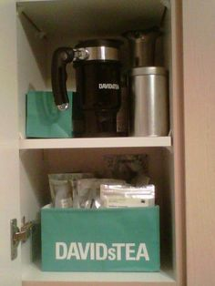 For all you David Tea lovers out there, cut the bottom of the bag to organize all of your teas! Why didn't I ever think of that?