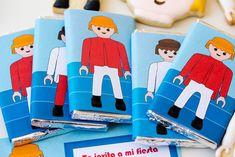 Kit imprimibles de Playmobil #imprimibles #gratis #free #printables #crafts #decoracion #decoration #ideas #birthday #cumpleaños #fiestas #party #candy #retro #chocolate