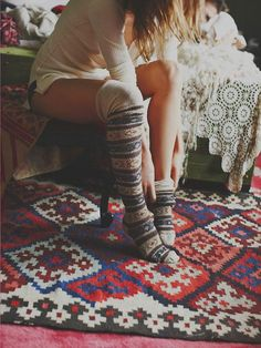 Adorable long socks for boho