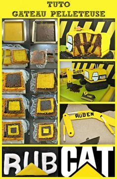 Pelleteuse Excavator Cake, Gateau Harry Potter, Construction Party, 3rd Birthday, Happy Birthday, Cake Art, Birthdays, Candy, Engin