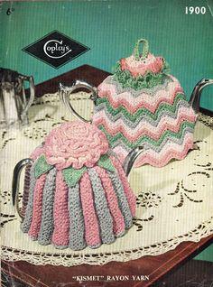 Copley 1900 vintage tea cosies knitting pattern PDF instant download