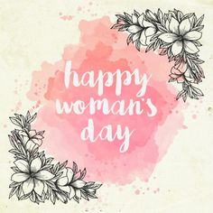 Watercolor women's day background with hand drawn flowers Free Vector Happy Woman Day, Happy Women, Mothers Day Crafts, Happy Mothers Day, Tag Png, Mans Day, Mother's Day Background, 8 Mars, Mother's Day Printables