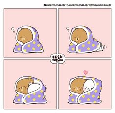 Cute Couple Cartoon, Cute Cartoon Pictures, Cute Love Cartoons, Cute Bear Drawings, Cute Cartoon Drawings, Gif Kawaii, Chibi Cat, Cute Kawaii Animals, Cute Love Gif