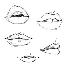 Need some drawing inspiration Well youve come to the right place Heres a list of over 20 amazing lip drawing ideas and inspiration. Why not check out this Art Drawing Set Artist Sketch Kit perfect for practising your art skills. Art Drawings Sketches Simple, Pencil Art Drawings, Easy Drawings, Drawings Of Lips, Body Sketches, Amazing Drawings, Cartoon Drawings, Unique Drawings, Cartoon Faces