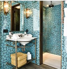 Tiled turkish bathroom at the Istanbul Soho House. Trend inspiration for our May Turkish Delight shoot.