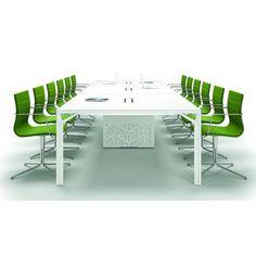 Grande table de réunion X8 avec pieds Design Officity.