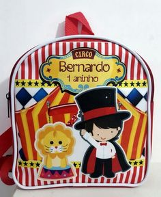 Bolsinhas G 20X22 Circo Do Mickey, Circus Party, Party Themes, Birthday Parties, Kids, 6 Year Old, Lunch Boxes, Kids Bday Party Ideas, Circus Birthday