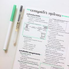 Gorgeous green computer systems study notes // follow us @motivation2study for daily inspiration