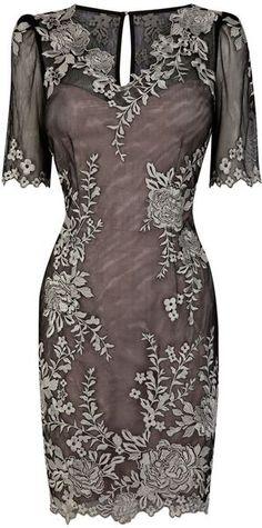 Karen Millen Colourful Lace Applique Vintage style Dress -  www.finditforweddings.com
