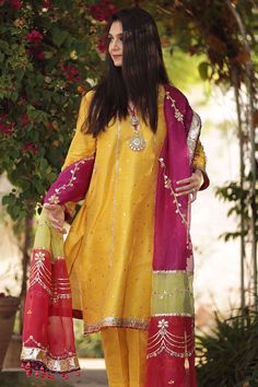 Beautiful Pakistani Dresses, Pakistani Formal Dresses, Pakistani Fashion Casual, Indian Fashion Dresses, Pakistani Dress Design, Fancy Dress Design, Stylish Dress Designs, Designs For Dresses, Embroidery Suits Design