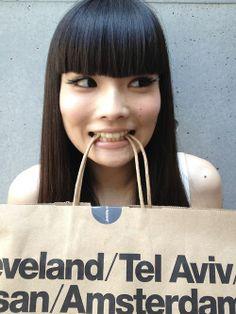 bangs Japanese Hairstyle, Model Face, Japanese Models, Hair Inspiration, Bangs, Appreciation, Hair Beauty, Beautiful Women, Tote Bag