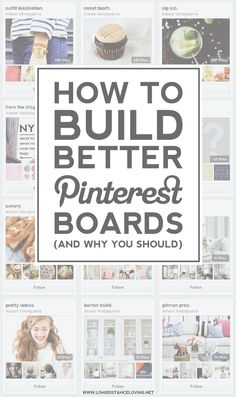 "How to Build Better Pinterest Boards (and Why You Should!) — Alison gives two great ways to make your boards more search engine optimized and understandable to your followers plus how your boards can be ""trustworthy"" to your followers.   