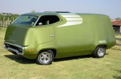 Freakin Cool! & My Favorite Color! The Website Says A 1970 Roadrunner Van But They Are Wrong, It's A 71' Roadrunner Or A 72 Satellite But Whatever The Case It's Merged With A COE!;-)