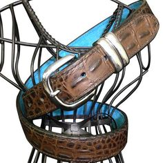 """Looper Law Enforcement """"Hello Sailor"""" leather dress belt with faux Crocodile pattern. Tough enough to clip your holster to."""