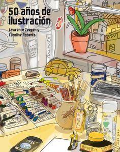 """Portada de #Mariscal para el #libro """"50 años de #ilustracion"""" de Lawrence Zeegen y Caroline Roberts, publicado por Lunwerg."""