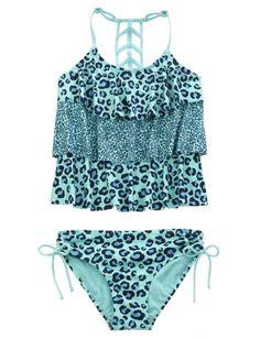 Cheetah Tankini Swimsuit