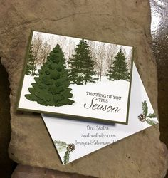 Winter Woods Bundle Christmas Card (Create With Dee) Christmas Card Packs, Christmas Cards 2018, Stamped Christmas Cards, Christmas Card Crafts, Homemade Christmas Cards, Merry Christmas Card, Noel Christmas, Christmas Greeting Cards, Homemade Cards