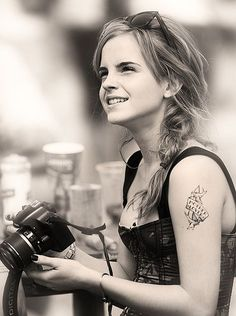 emma watson. i love that messy side-braid