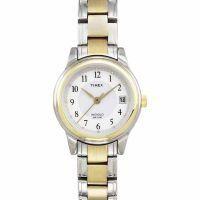 Wmns TwoTone Bracelet White 2 Zone dial,, date Arabic numerals - Ladies by Timex. $56.66. Two-Tone Bracelet 165 Feet (50 m) Mineral Crystal Quartz Movement