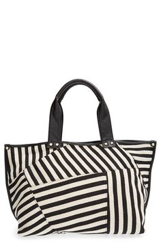 POVERTY FLATS by rian 'Modern Stripe' Tote available at #Nordstrom