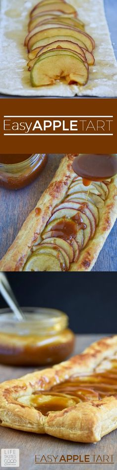 Bursting with tender sweet apples in a golden delicious pastry, this Apple Tart dessert recipe melts in your mouth, is easy to make and disappears quickly!