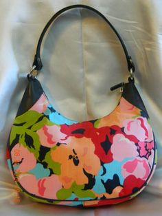 NEW LISTING! GREAT PRICE! $24.99 BUY IT NOW! #Talbots Multi-Color #Floral Canvas #Leather Handle #Purse #Hobo Satchel #Shoulder #Bag #Handbag #Tote 100% Authentic! The outside boasts colorful floral abstract #print of #red, #pink, #green, #peach, #cream, #turquoise, #black, #blue on a durable & easy care background of canvas. With rich, smooth grain black leather trim . Baby Boomer #ebay #sale 4th of july #deal #shopping #fashion #auction #womenover50 #womenover40 #travel