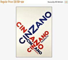 Cinzano Vermouth 1951 Vintage Poster Art Print Retro Style
