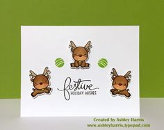 My day 6 using super cute @mamaelephant Reindeer Games and Jingle Greetings stamp sets.