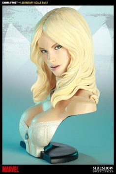 Sideshow Collectibles - Marvel Comics Legendary Scale buste Emma Frost 33 cm by Sideshow Collectibles. $229.00. Limited Edition: 1250. Sideshow Collectibles and Marvel Comics proudly present the latest addition to the Marvel Legendary Scale Bust series: Emma Frost. Each bust is individually painted and finished, each with its own unique quality and detail that is the trademark of a handcrafted Sideshow Collectibles product. Capturing the mutant maven in stunning detail, the...