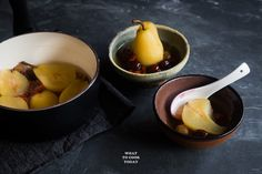 Longan, Red Dates, Goji Berries Poached Pears | What To Cook Today. Easy Asian dessert or snacks
