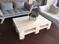 meble - stoły i stoliki-STÓŁ Z PALET do Jadalni salonu