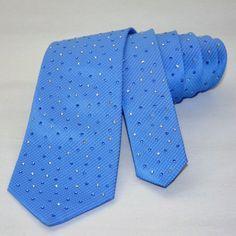 Swarovski necktie-Men's Necktie-Man's shiny tie covered with original crystals-Bling tie-Glitter tie-lace tie-wedding-sparkly-handmade
