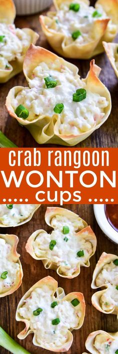 Crab Rangoon Wonton Cups!