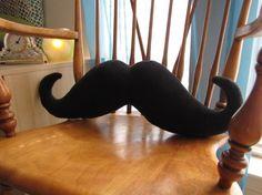 Moustache Pillow by freakyfleece, $25.00