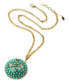 Love this Turquoise Pebble Pendant Necklace by Amrita Singh on #zulily! #zulilyfinds