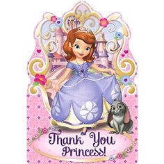 Disney Sofia The First Princess Birthday Party Postcard Thank You Cards Supplies 8 Pack PinkPurple 4  sc 1 st  Pinterest & Playhut Sofia The First Princess Castle Tent * ** AMAZON BEST BUY ...