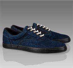Dark Denim Thorpe Trainer, by Paul Smith #shoes #sneakers