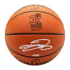 finest selection eabe1 c0f7c LEBRON JAMES AUTOGRAPHED AUTHENTIC SPALDING BASKETBALL WITH 3X FINALS MVP  LOGO UDA (ONLY 6 AVAILABLE - PREORDER NOW) - Game Day Legends