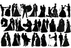 Silueta de la novia y el novio - Buscar con Google