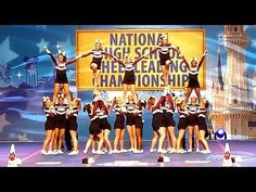 Central High Cheerleaders stunt routine: 2015 NHSCC  *THIS Dance Sections would be good for D3. Stunts for Future!