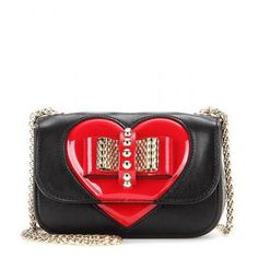 Christian Louboutin - Sweety Charity Nu leather shoulder bag #shoulderbag #christianlouboutin #women #designer #covetme