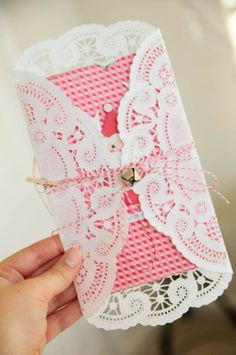 A Doily Folded Invitation {Envelope}
